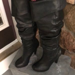 7 1/2 Jessica Simpson black heeled boots